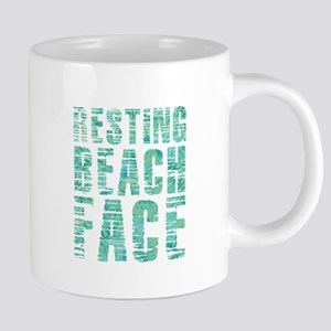Resting Beach Face Print 20 oz Ceramic Mega Mug
