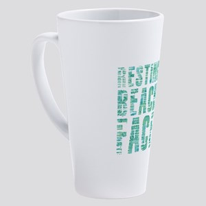 Resting Beach Face Print 17 oz Latte Mug