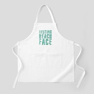 Resting Beach Face Print Light Apron