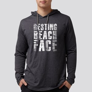 Resting Beach Face Mens Hooded Shirt