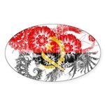 Angola Flag Sticker (Oval 10 pk)