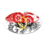 Angola Flag Oval Car Magnet