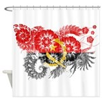 Angola Flag Shower Curtain