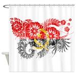 Angola Flag Shower Curtain
