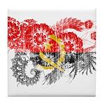 Angola Flag Tile Coaster