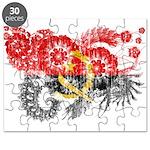 Angola Flag Puzzle