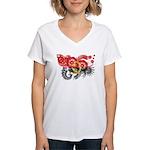 Angola Flag Women's V-Neck T-Shirt