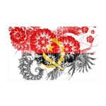 Angola Flag 38.5 x 24.5 Wall Peel