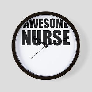Awesome nurse Wall Clock