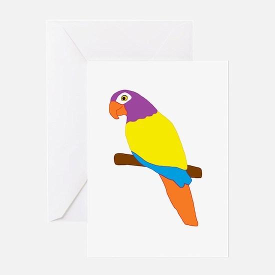 Parrot Bird Design Greeting Card