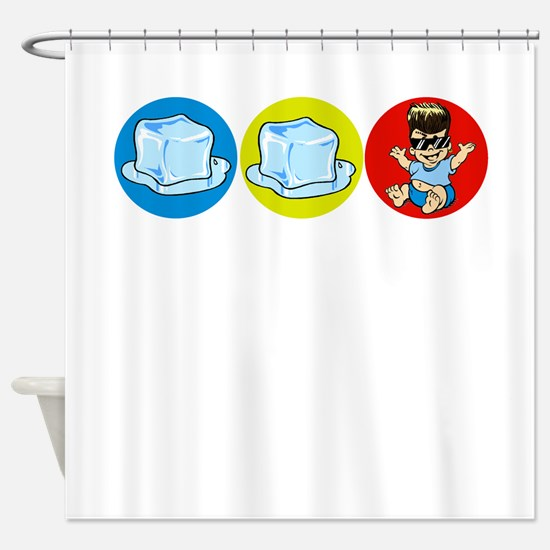Ice Ice baby Shower Curtain