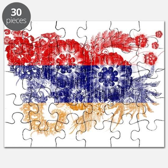 Armenia Flag Puzzle