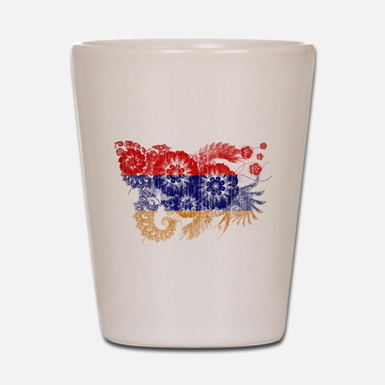 Armenia Flag Shot Glass