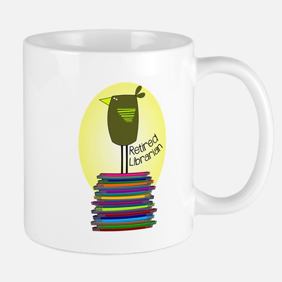 retired librarian BOOK BIRD 2.PNG Mug