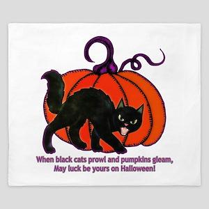 Halloween Cat King Duvet