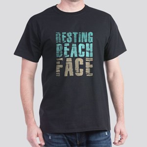 Resting Beach Face Color Dark T-Shirt