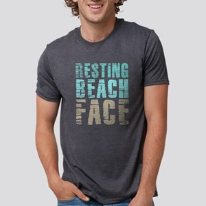 Resting Beach Face Color Mens Tri-blend T-Shirt