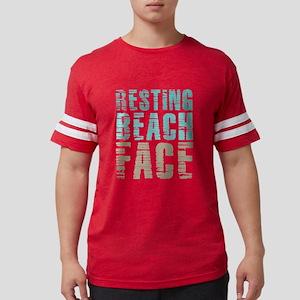 Resting Beach Face Color Mens Football Shirt