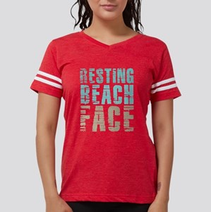 Resting Beach Face Color Womens Football Shirt