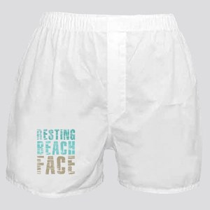 Resting Beach Face Color Boxer Shorts