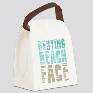 Resting Beach Face Color Canvas Lunch Bag