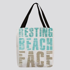 Resting Beach Face Color Polyester Tote Bag