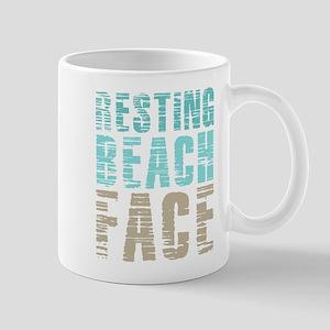Resting Beach Face Color 11 oz Ceramic Mug