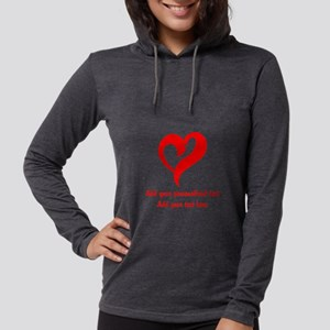 Red Heart Personalized Womens Hooded Shirt