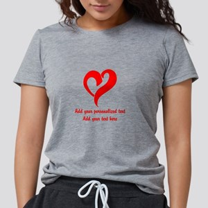 Red Heart Personalized Womens Tri-blend T-Shirt