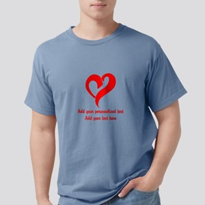 Red Heart Personalized Mens Comfort Colors Shirt