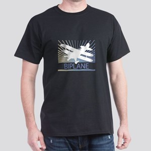 Aircraft Biplane Dark T-Shirt
