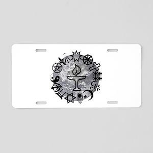 Unitarian 6 Aluminum License Plate