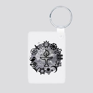 Unitarian 6 Aluminum Photo Keychain