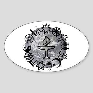 Unitarian 6 Sticker (Oval)