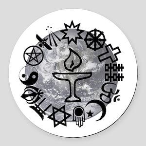 Unitarian 6 Round Car Magnet
