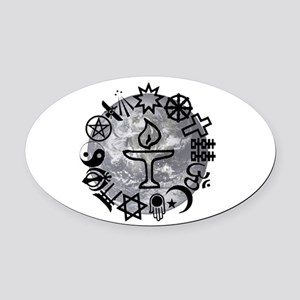 Unitarian 6 Oval Car Magnet