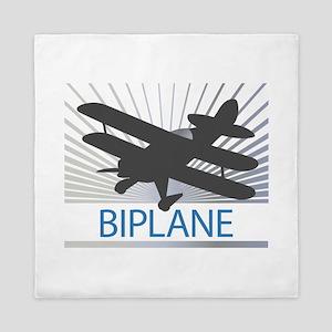 Aircraft Biplane Queen Duvet