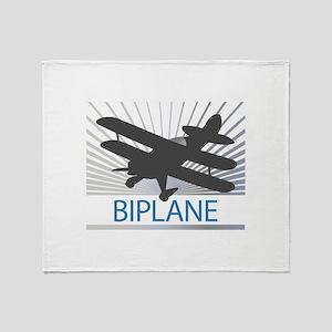 Aircraft Biplane Throw Blanket