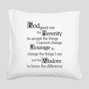 Serenity Prayer Square Canvas Pillow
