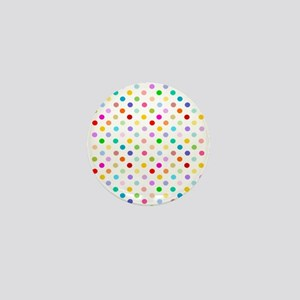 Rainbow Polka Dots Mini Button