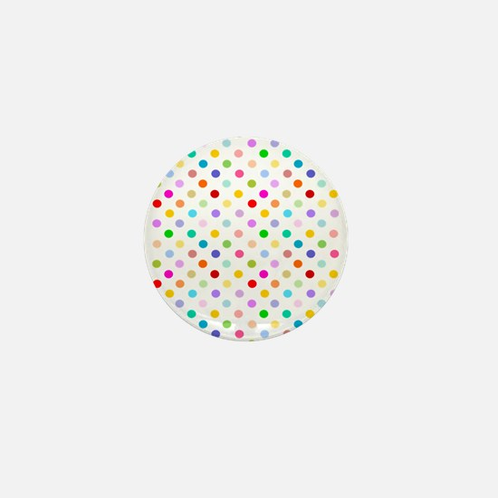 Rainbow Polka Dots Mini Button