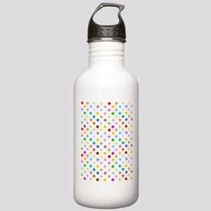 Rainbow Polka Dots Stainless Water Bottle 1.0L