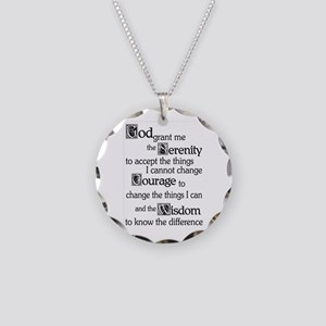 Serenity Prayer Necklace Circle Charm