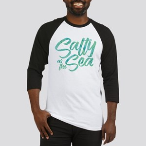 Salty As The Sea Print Baseball Tee