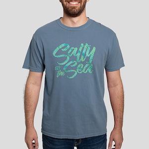 Salty As The Sea Print Mens Comfort Colors Shirt