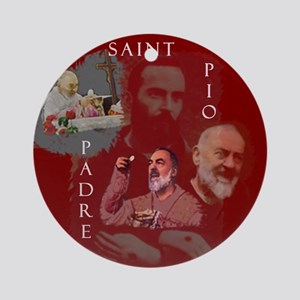 Holy Saint Christmas Ornament (Round)