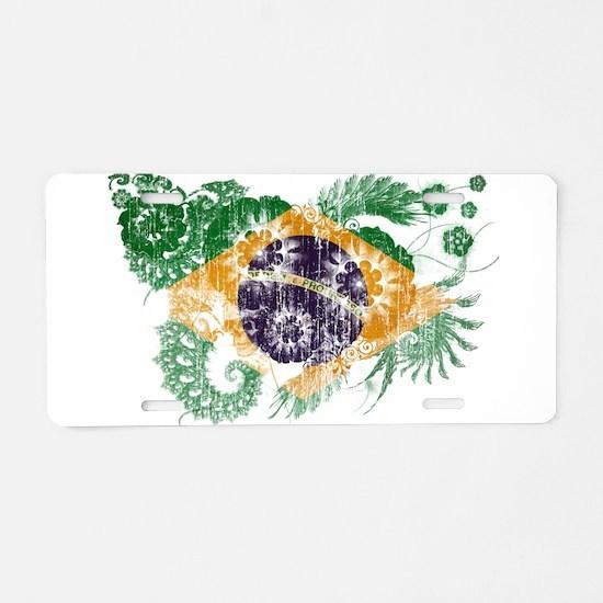 Brazil Flag Aluminum License Plate