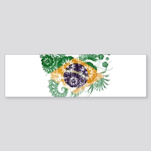 Brazil Flag Sticker (Bumper)
