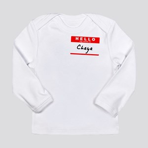Chaya, Name Tag Sticker Long Sleeve Infant T-Shirt