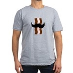 Moustache Bacon Men's Fitted T-Shirt (dark)